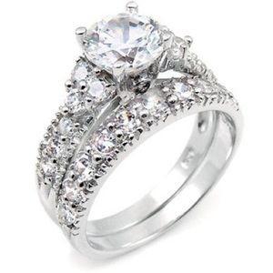 Jewelry - Sterling Silver Cubic Zirconia Wedding Set